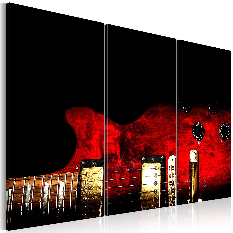 Tableau - Guitare rouge