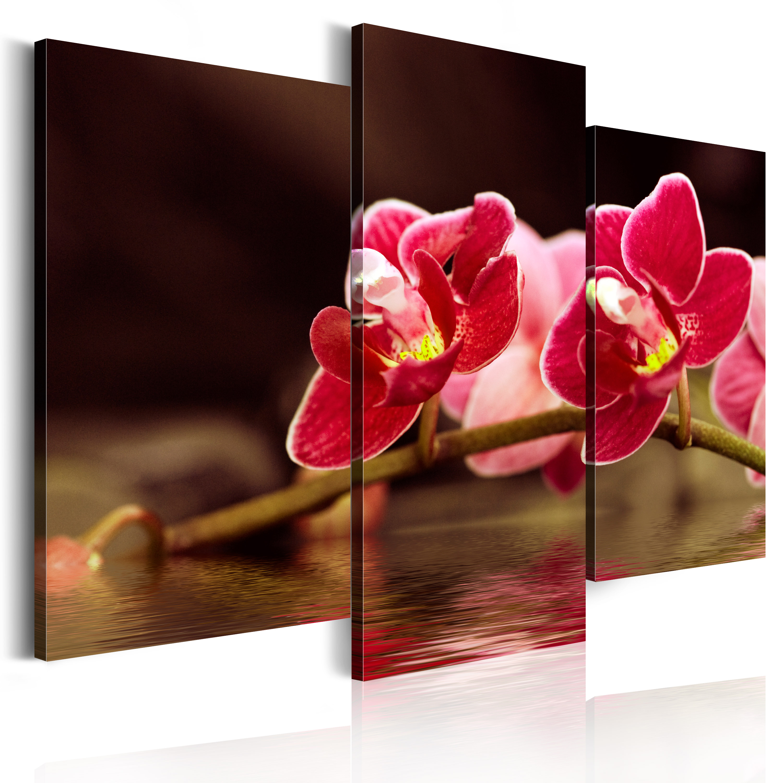 Tableau - Orchidée au lac