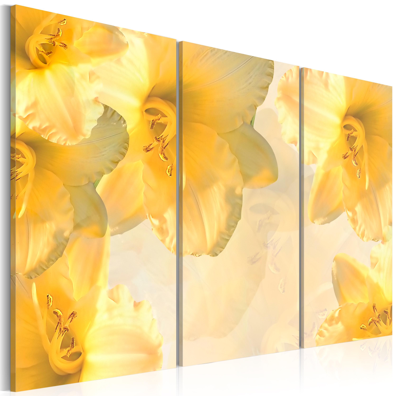 Tableau - lys délicates en jaune