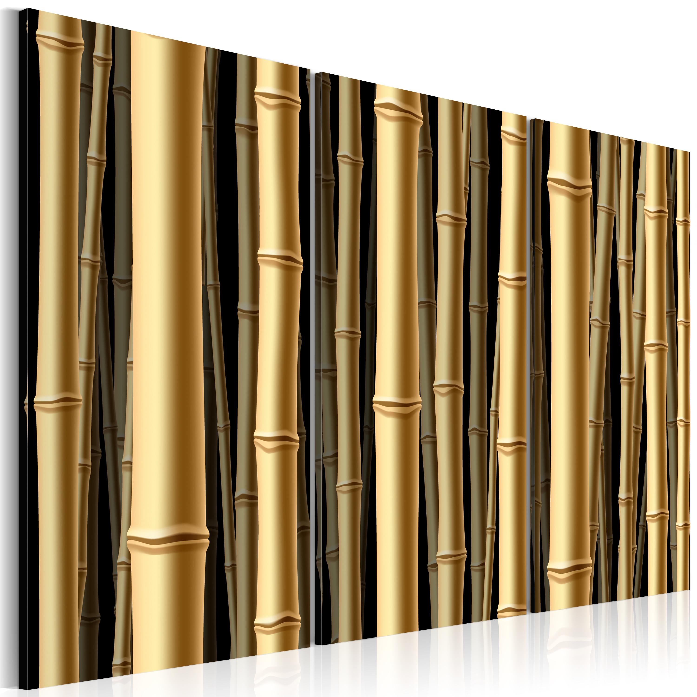 Tableau - Tiges marron de bambou