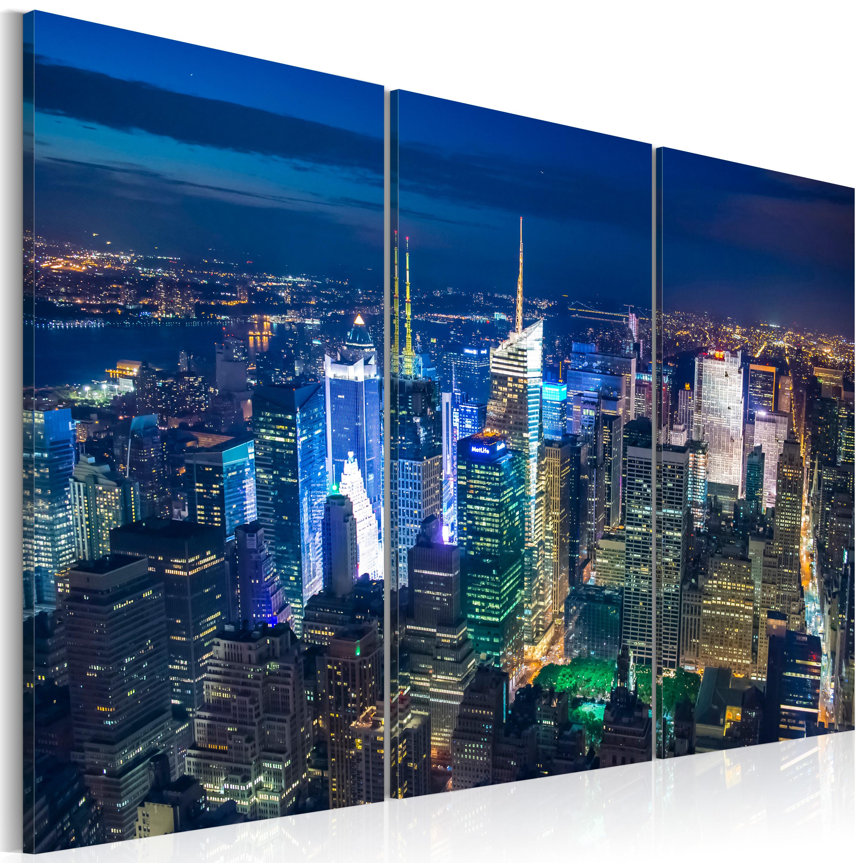 Tableau - Vue aérienne de la ville de New York