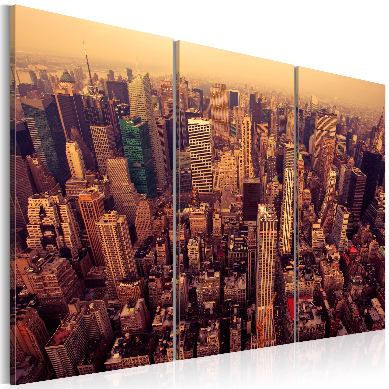 Tableau - Coucher de soleil sur New York