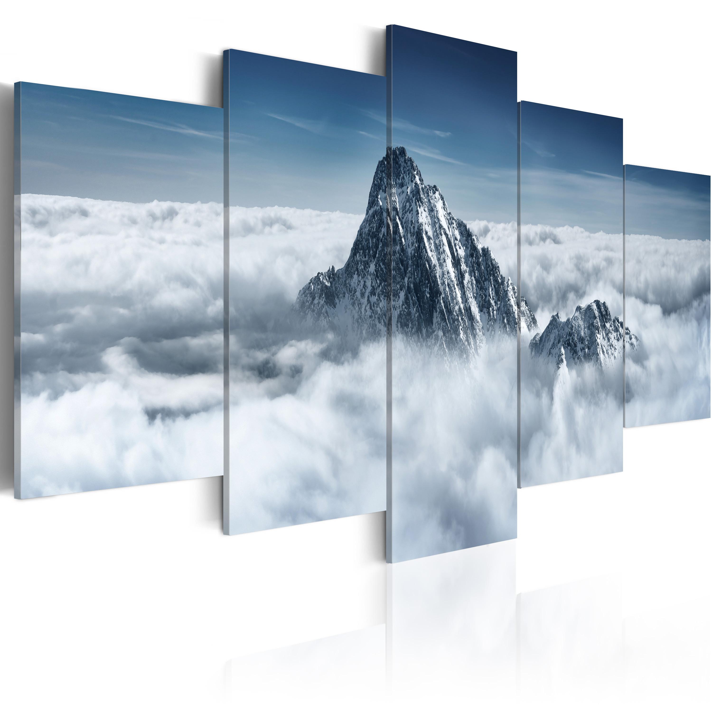 Tableau - Sommet de la montagne au-dessus des nuages