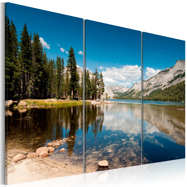 Tableau - Montagnes et lac cristallin