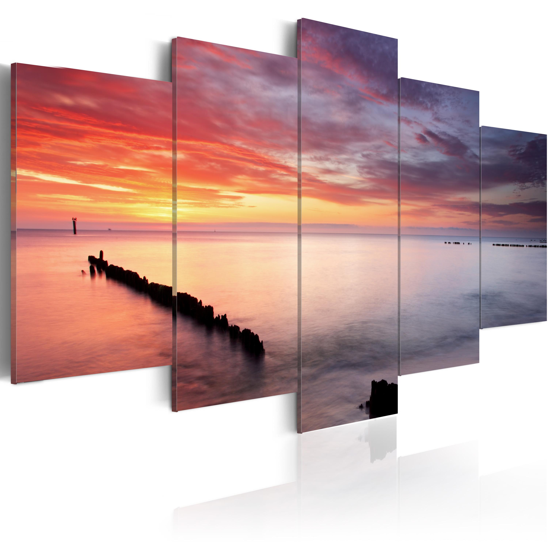 Quadro - Giochi di colori al mare 100X50 cm