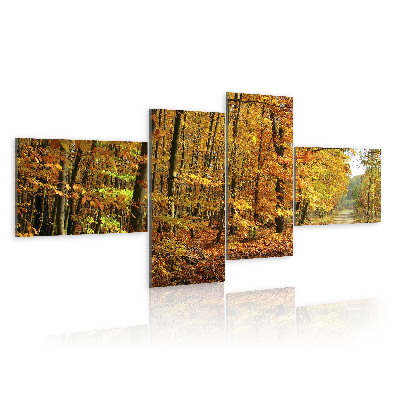 Tableau - Voie d'automne plein de soleil