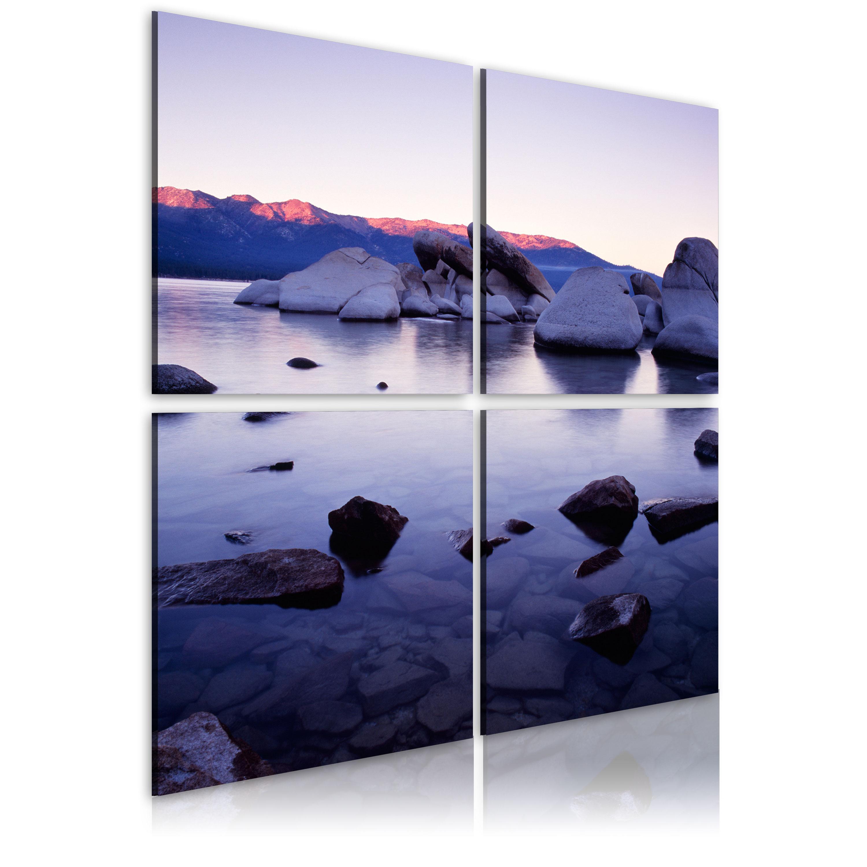 Tableau - Rivage rocheux de lac alpin