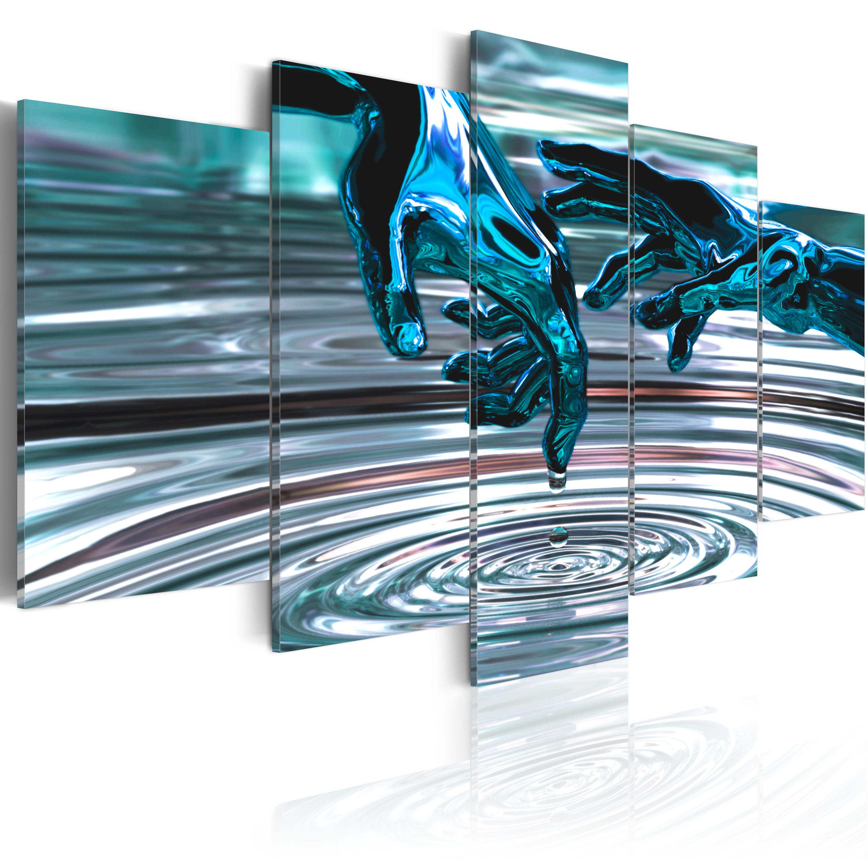 Quadro - Cerchi d'acqua 100X50 cm