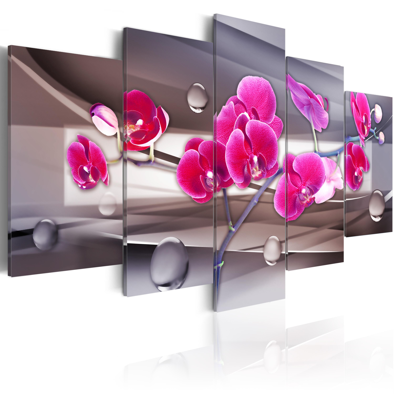 Tableau - Orchidée sur un fond sobre