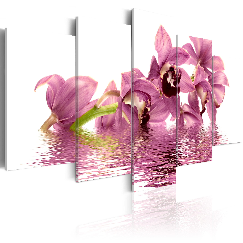 Quadro - Gigli immersi nell'acqua 100X50 cm