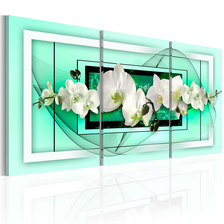 Quadro - Aprile e orchidee 120X60 cm