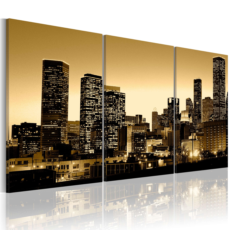 Quadro - Bagliore dalle finestre della citta' 120X60 cm