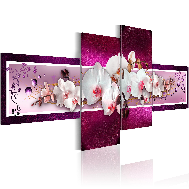 Quadro - Orchidee romantiche 100X45 cm