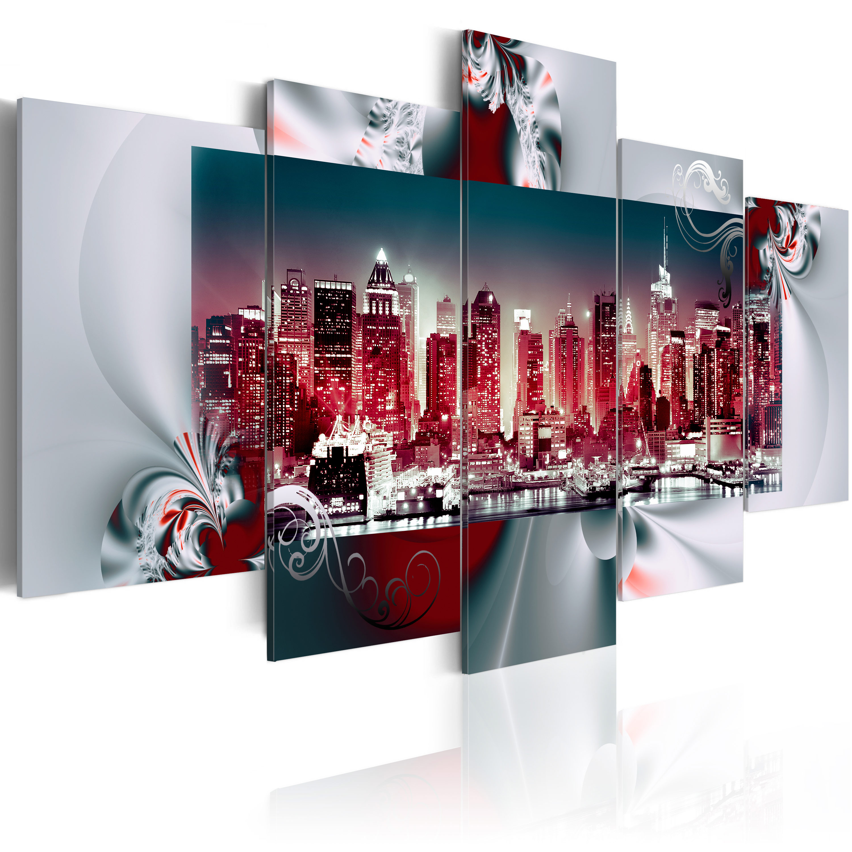 Quadro - Città d'acciaio 100X50 cm