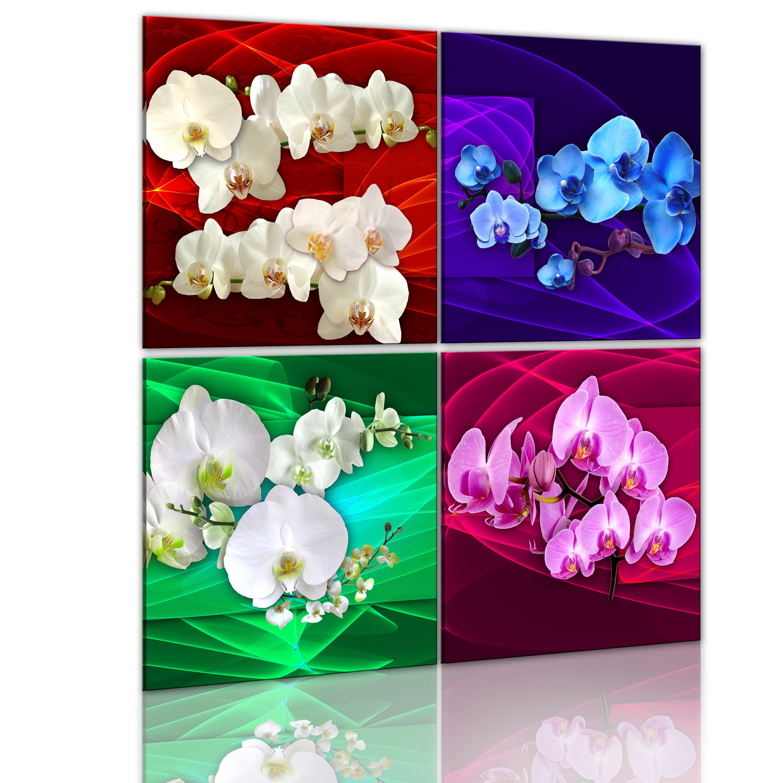 Tableau - Orchidées multicolores