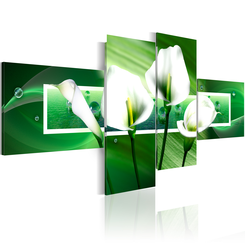 Tableau - Callas sur fond vert