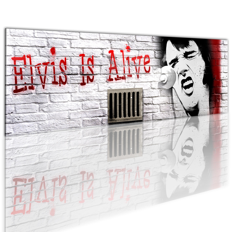 Quadro - Elvis e' vivo 120X40 cm