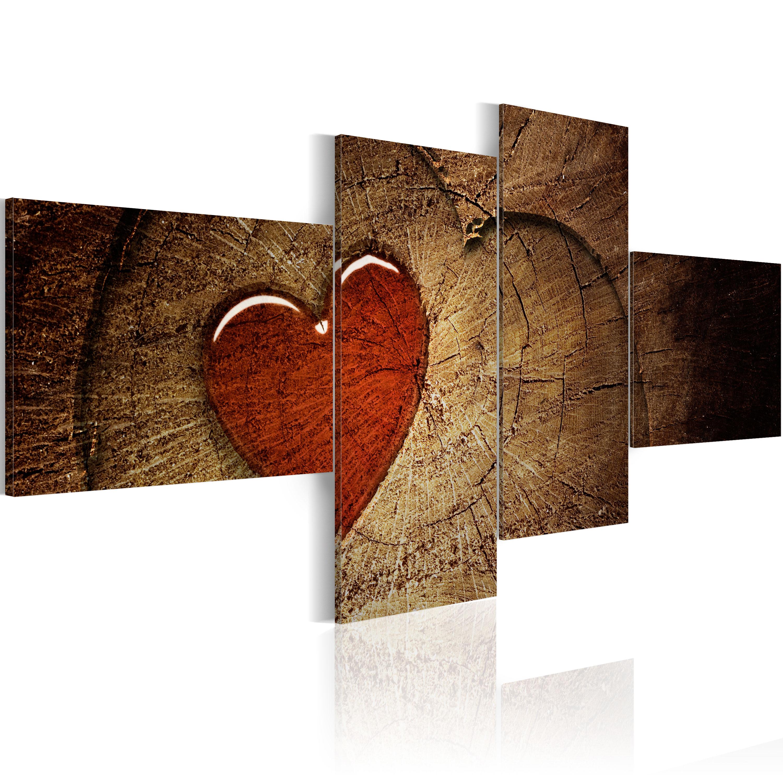 Quadro - Il vecchio amore non arrugginisce: 4 pezzi 100X45 cm