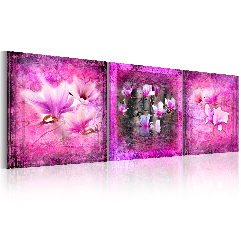 Tableau - Pink magnolia flowers