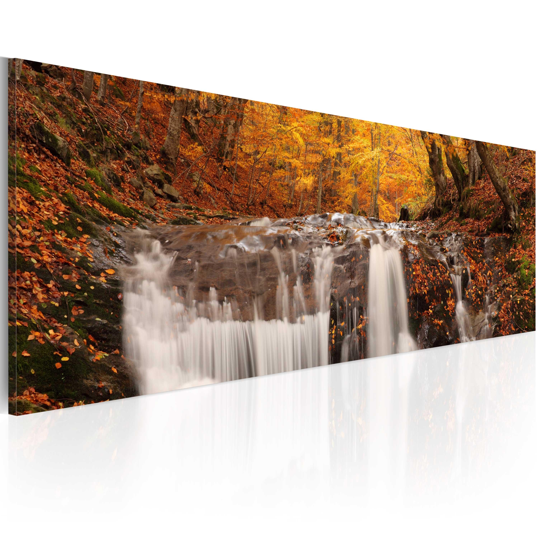 Quadro - Autunno e cascata 120X40 cm