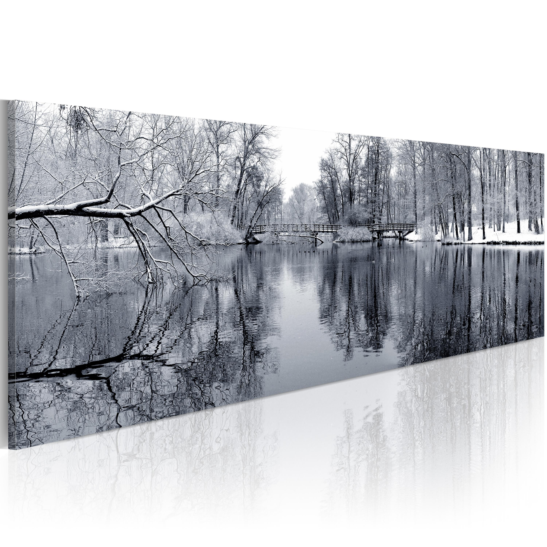 Quadro - paesaggio: inverno 120X40 cm