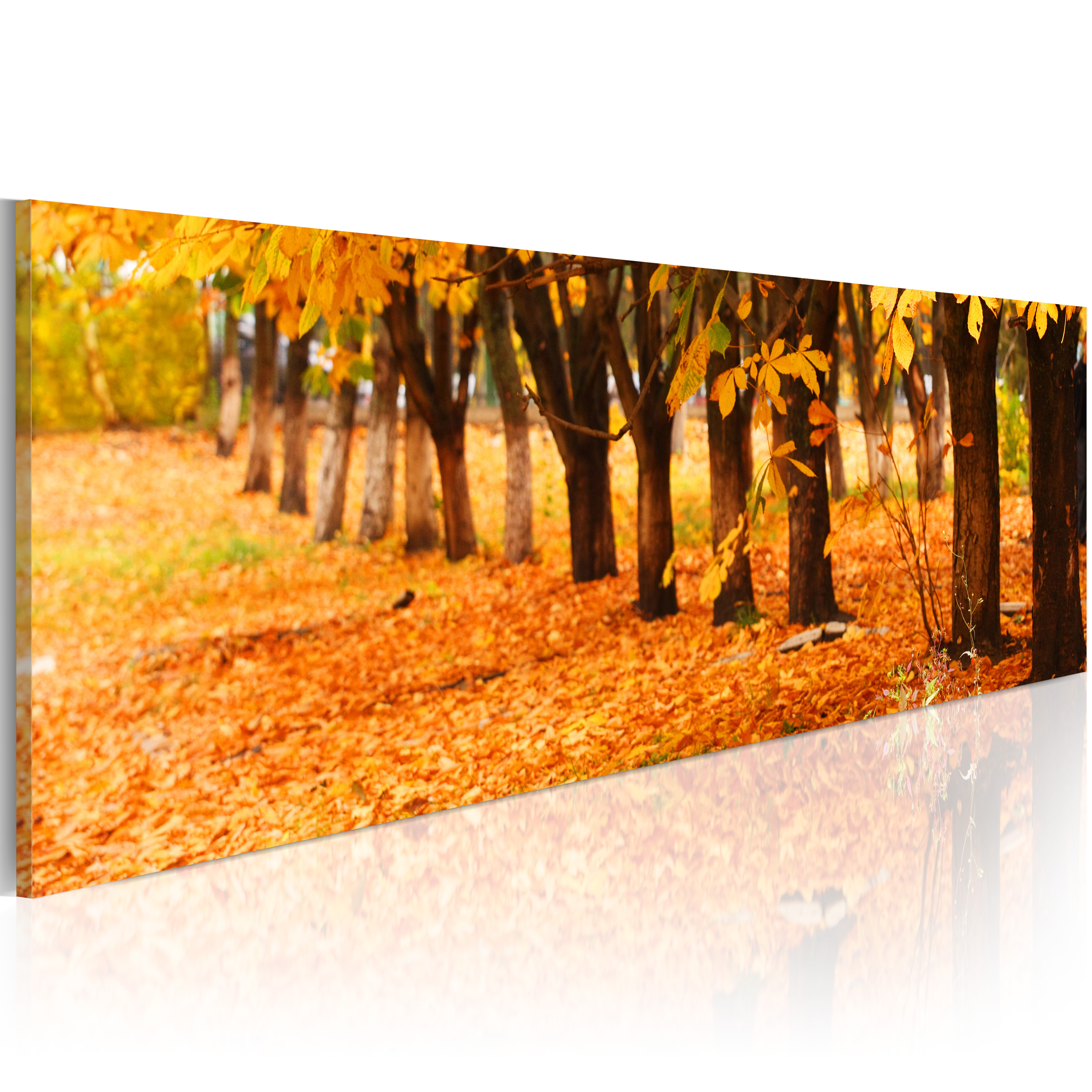 Quadro - Golden leaves 120X40 cm