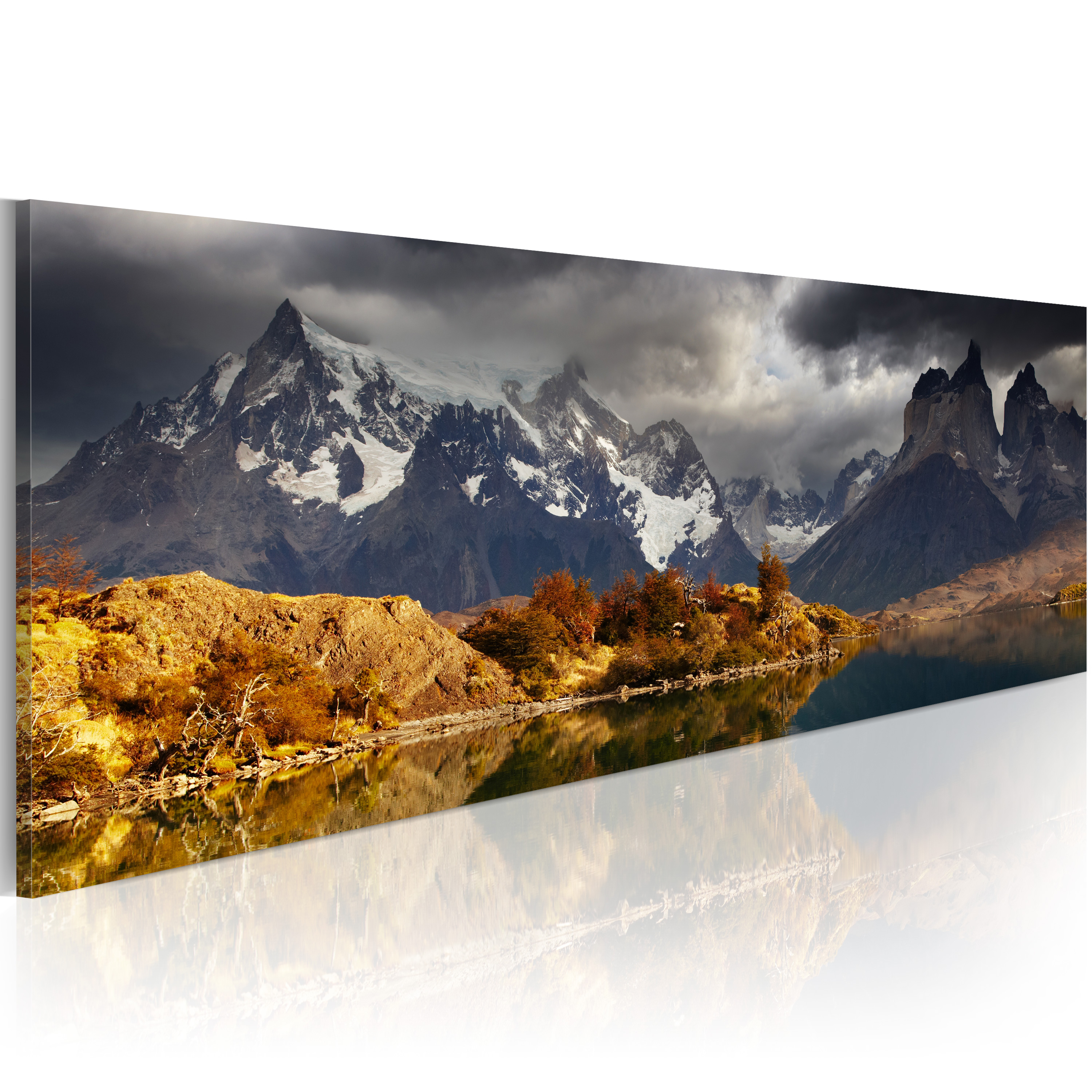 Quadro - Mountain landscape before a storm 120X40 cm