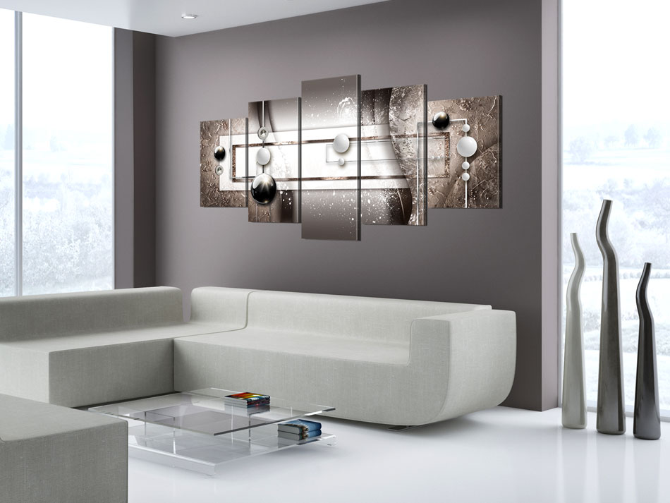ABSTRAKT KUGEL GLANZ KUNST Wandbilder xxl Bilder Vlies Leinwand a-A-0197-b-n