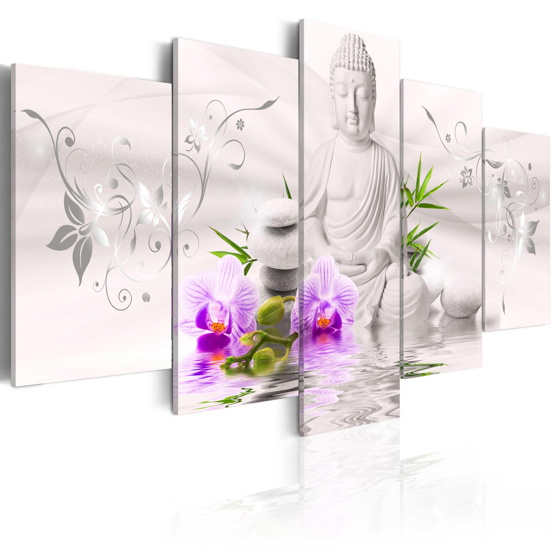 Quadro - Buddha bianco 200X100 cm