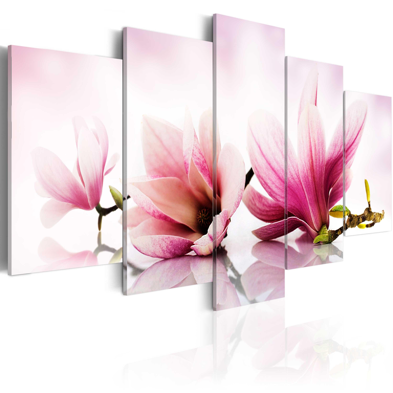 Tableau - Magniolias: fleurs roses