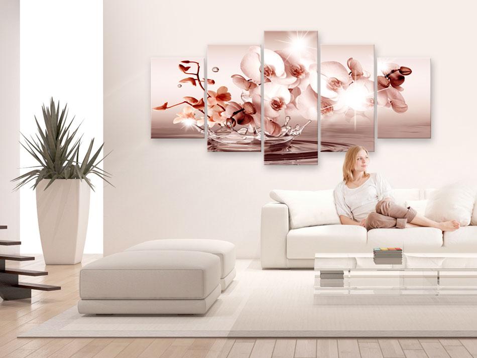 ORCHIDEE ABSTRAKT BLUMEN Wandbilder xxl Leinwand Bilder