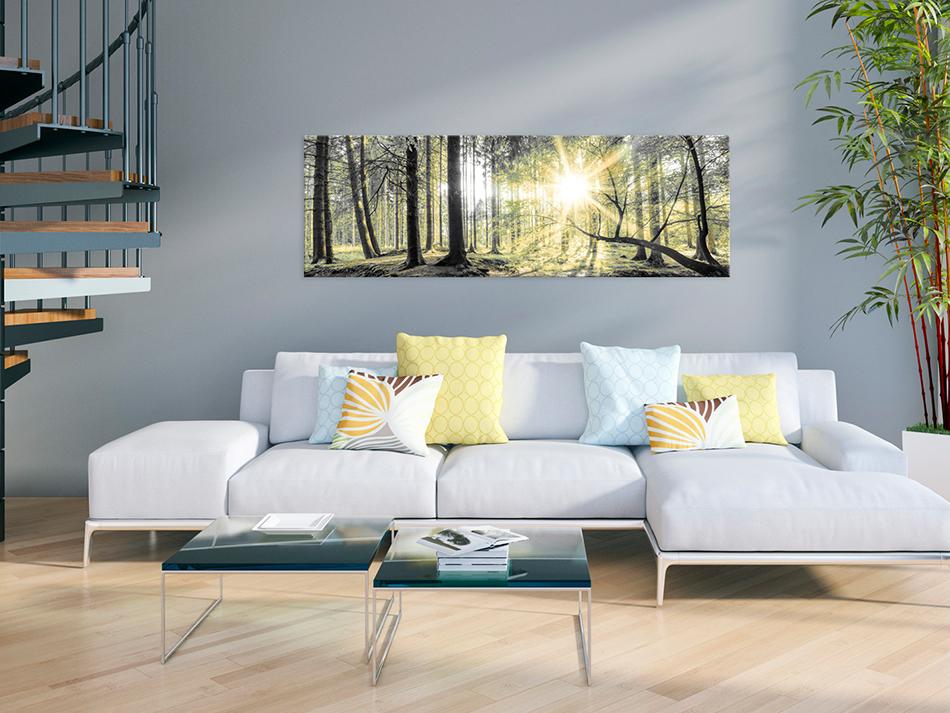 wandbilder xxl wald landschaft ausblick leinwand bilder wohnzimmer c c 0018 b b ebay. Black Bedroom Furniture Sets. Home Design Ideas