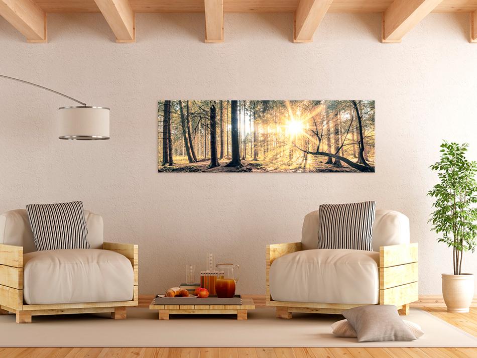 Xxl Wohnzimmer Bilder ~ Wandbilder xxl wald landschaft ausblick leinwand bilder wohnzimmer
