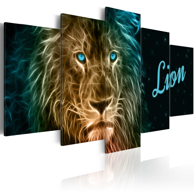 Quadro - Leone d'oro 100X50 cm