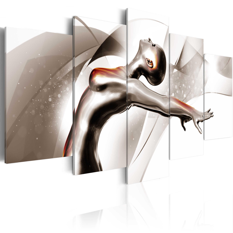 Quadro - Danza d'oro: Lei 100X50 cm