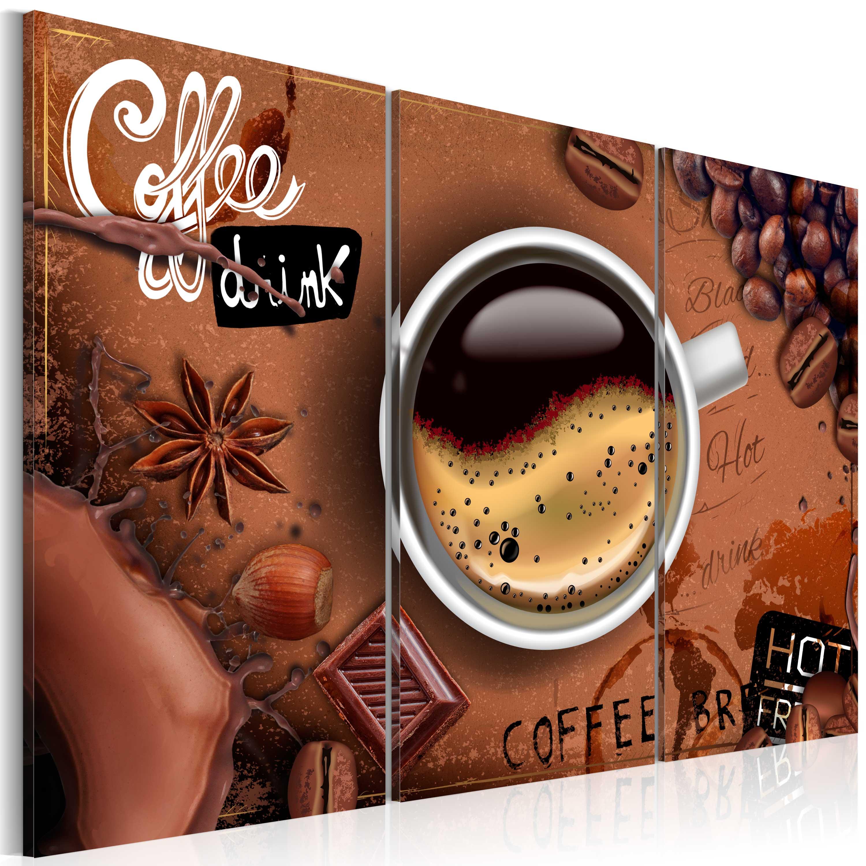 leinwand bilder xxl fertig aufgespannt bild kaffee k che j a 0012 b f ebay. Black Bedroom Furniture Sets. Home Design Ideas