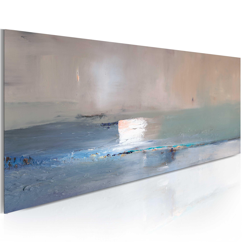 Quadro dipinto - La prima ondata 100X40 cm