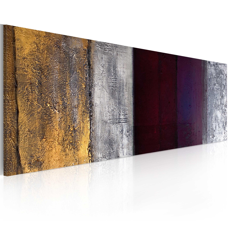 Quadro dipinto - Cambiamento d'umore 100X40 cm