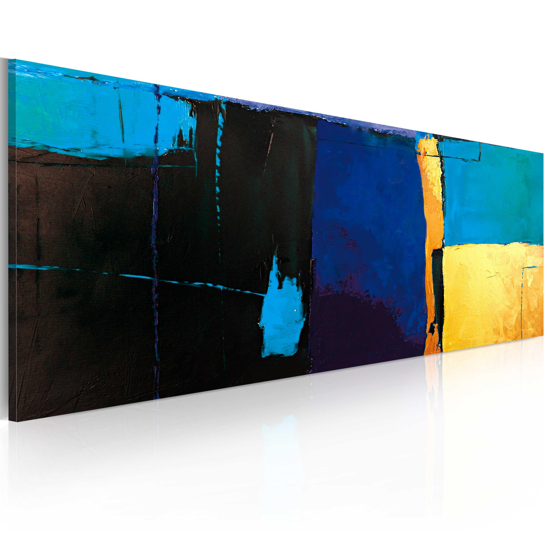 Quadro dipinto - Fascino dell'azzurro 100X40 cm