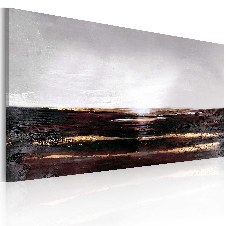 Quadro dipinto - Oceano nero 120X60 cm