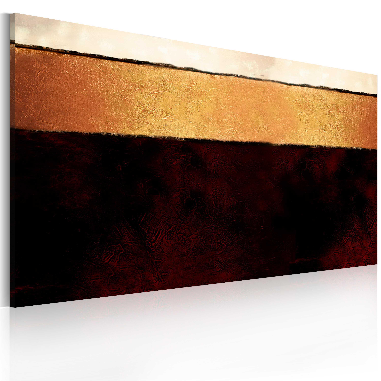 Quadro dipinto - Strati della Terra 120X60 cm