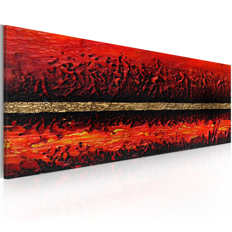 Quadro dipinto - Eruzione vulcanica 100X40 cm