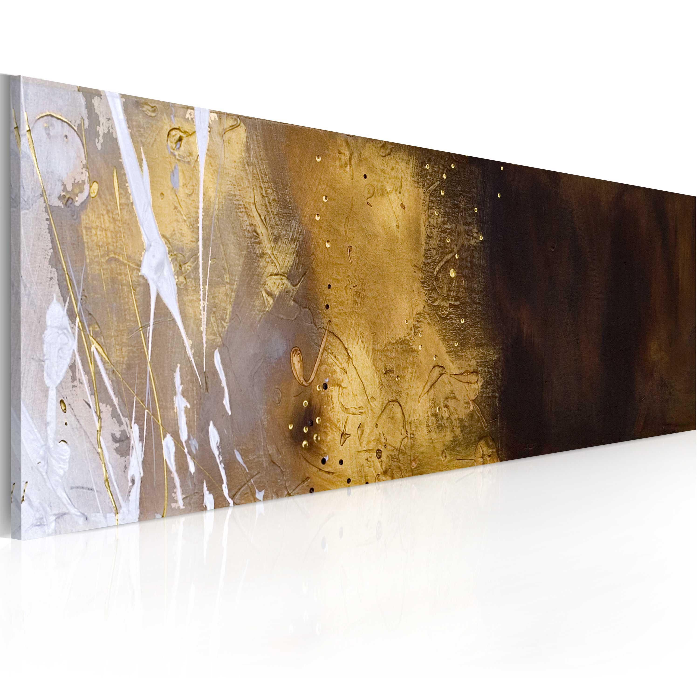 Quadro dipinto - Zoomata sulla riva del mare 100X40 cm