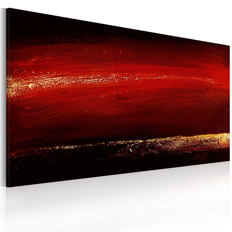 Quadro dipinto - Rossetto rosso 120X60 cm