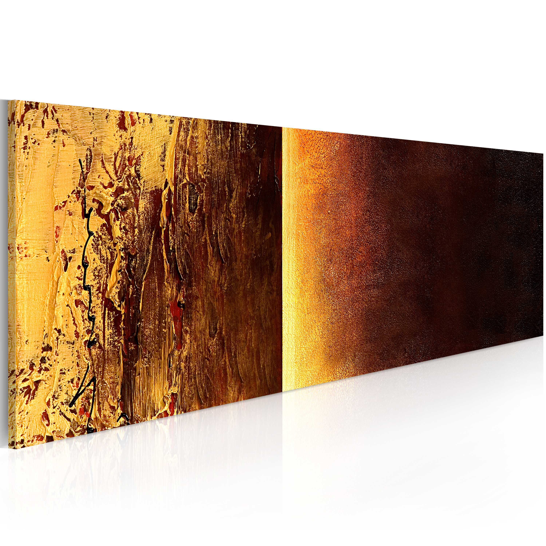 Quadro dipinto - Due texture 100X40 cm