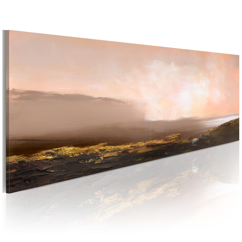 Quadro dipinto - Mattinata al mare 100X40 cm