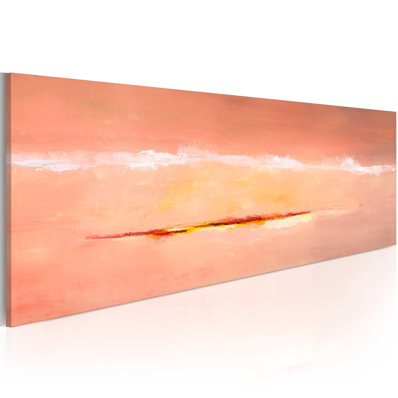 Quadro dipinto - Alba astratta 100X40 cm