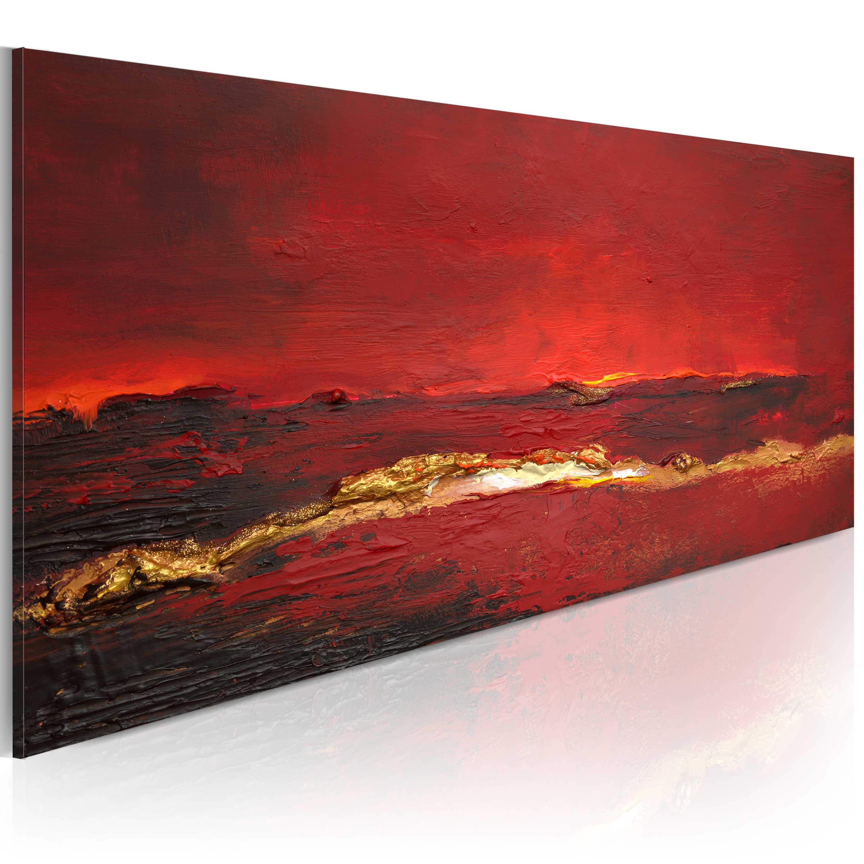 Quadro dipinto - Oceano rosso 100X40 cm