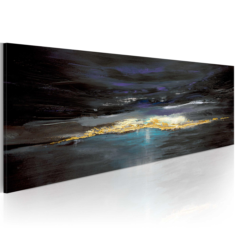Quadro dipinto - Dopo la burrasca esce sempre il sole 100X40 cm