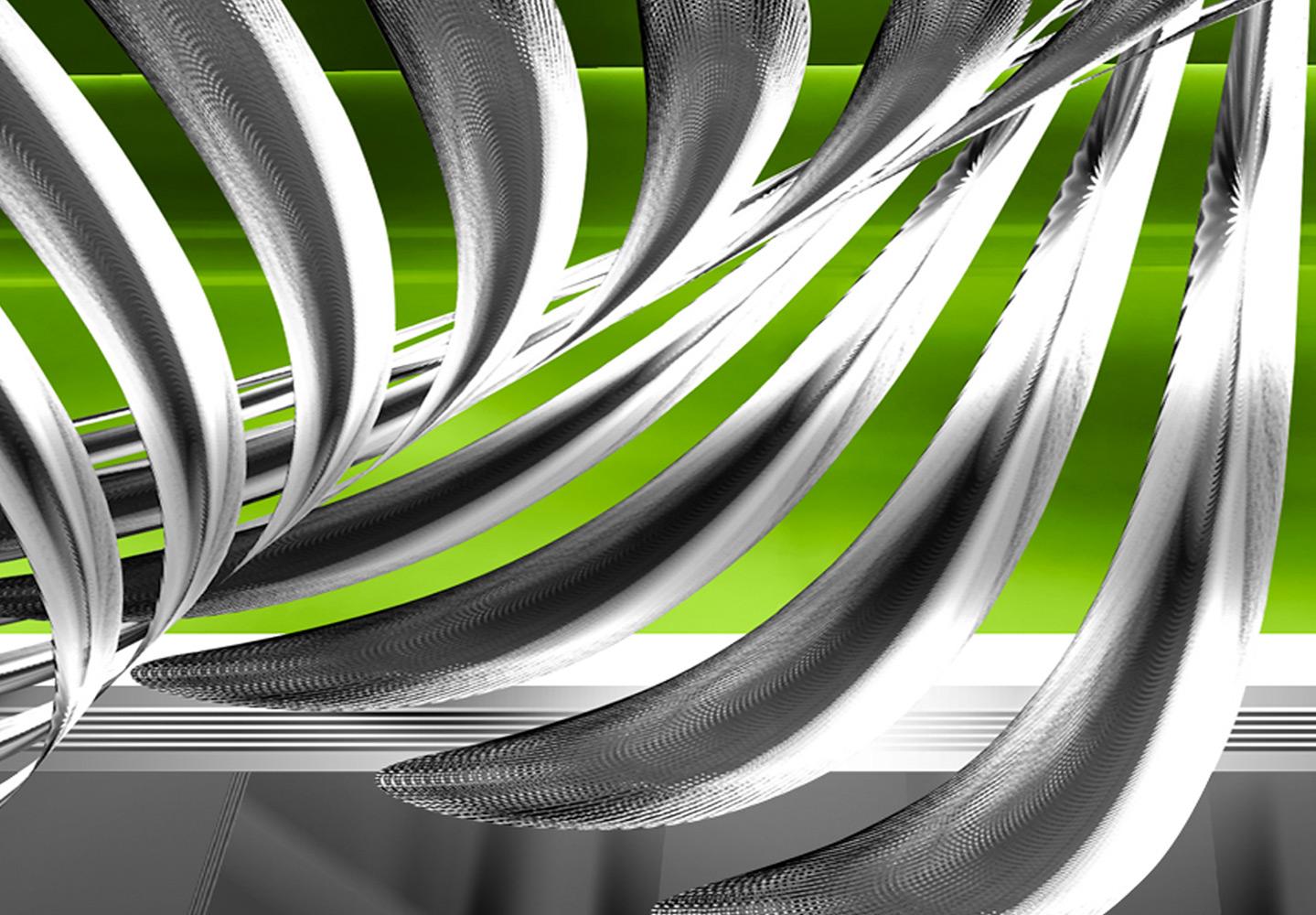 abstrakt silber kunst modern wandbilder xxl bilder vlies